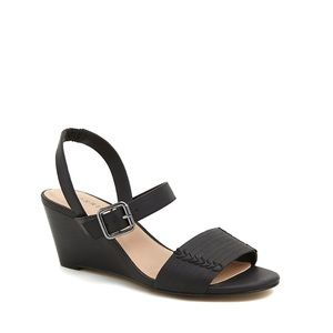 Torrid Whip Stitch Faux Leather Mini Wedges